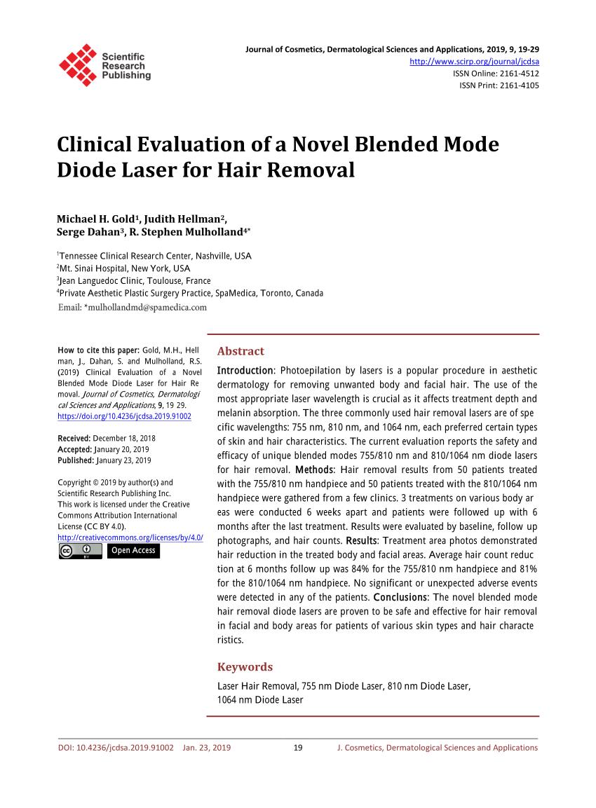 (PDF) Evaluaci�n cl�nica de un novedoso l�ser de diodo de modo combinado para ...