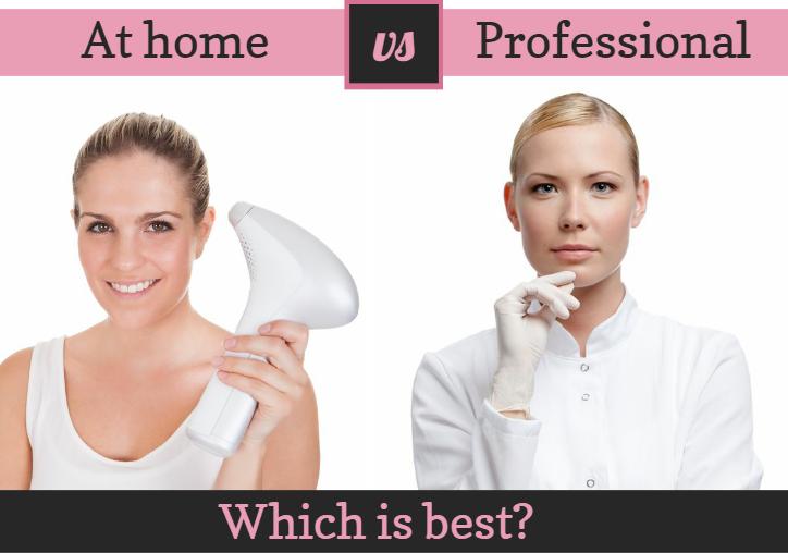 Depilaci�n l�ser en casa contra tratamientos profesionales