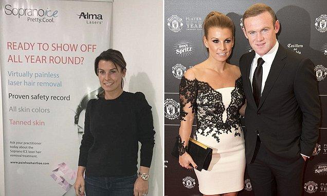 """Coleen Rooney revela que est� teniendo una depilaci�n l�ser """"hielo"""" ..."""